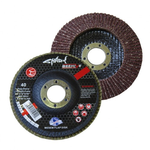 Shark Flap Disk 115x22.2 Mm 40 Kum (10 Adet)